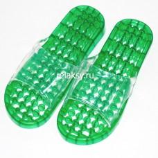 Гелевые массажные тапочки Зеленые