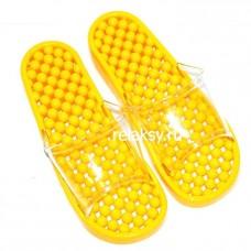 Гелевые массажные тапочки Желтые мягкие