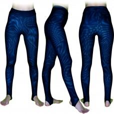 Спортивные леггинсы Муары-М, цвет основы  Бирюзовый