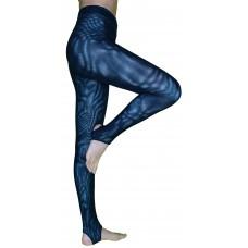 Спортивные леггинсы Муары-М, цвет основы  Голубой