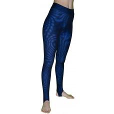 Спортивные леггинсы Муары-М, цвет основы Синий