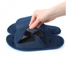 Массажные тапочки Релаксы  Velcro темно-синие