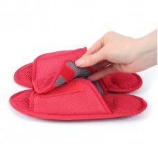 Массажные тапочки Релаксы  Velcro красные