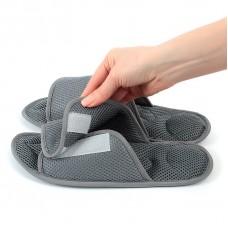 Массажные тапочки Релаксы  Velcro серые