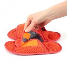 Массажные тапочки Релаксы Velcro оранжевые