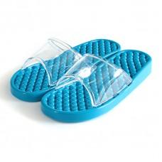 Гелевые массажные тапочки Синие мягкие